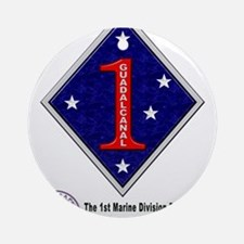 First Marine Div. Remembers Ornament (Round)