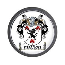 Malloy Coat of Arms Wall Clock