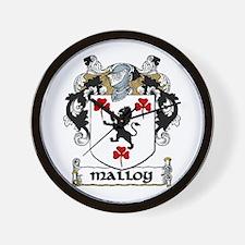 Malloy Coat of Arms Wall Clock