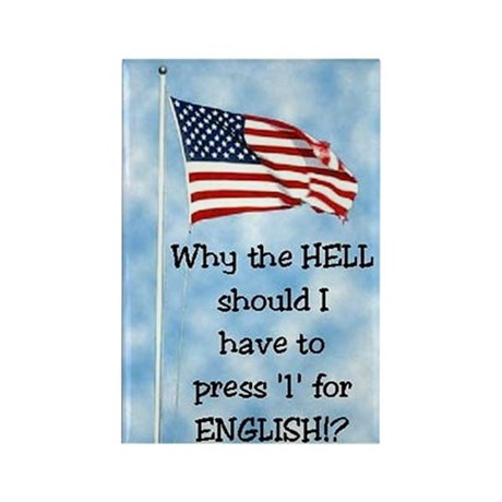 Press 1 for English Rectangle Magnet (100 pack)
