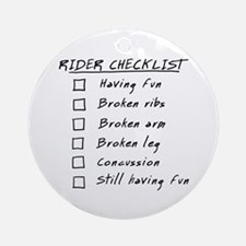 Horse Rider Checklist Ornament (Round)