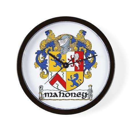 Mahoney Coat of Arms Wall Clock