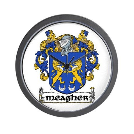 Meagher Coat of Arms Wall Clock