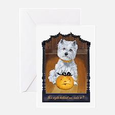 Westie Terrier Halloween Greeting Card
