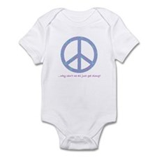 Peace-Why can't we get along? Infant Bodysuit