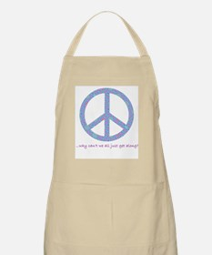 Peace-Why can't we get along? BBQ Apron