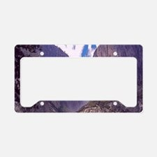 High Mountain Waterfall License Plate Holder