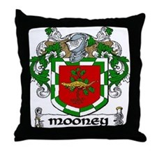 Mooney Coat of Arms Throw Pillow