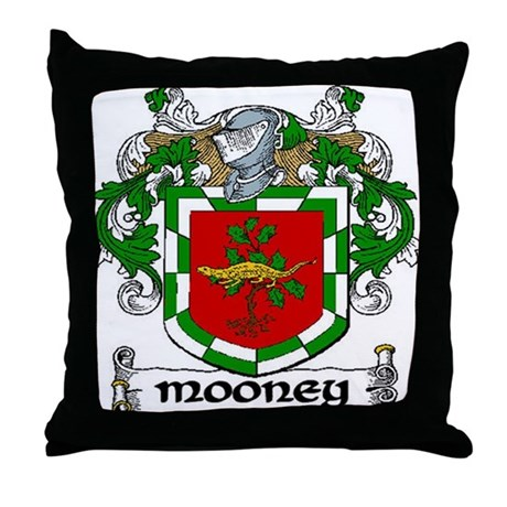 Mooney Coat of Arms Throw Pillow
