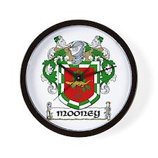 Mooney Coat of Arms Wall Clock