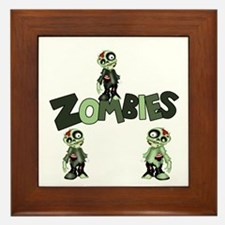Zombies Framed Tile