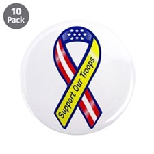 """Support Our Troops 3.5"""" Button (10 pack)"""