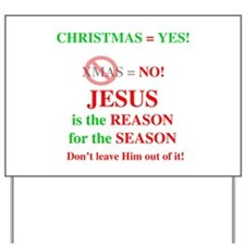 Jesus Christmas Yard Sign