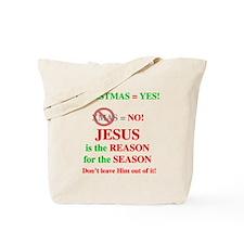 Jesus Christmas Tote Bag