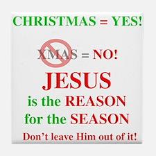 Jesus Christmas Tile Coaster