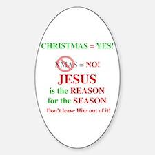 Jesus Christmas Oval Decal