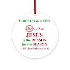 Jesus Christmas Ornament (Round)