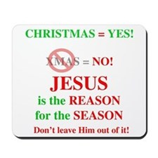 Jesus Christmas Mousepad