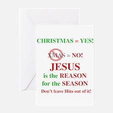 Jesus Christmas Greeting Card