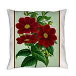 Vintage Flower Print Everyday Pillow