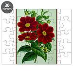 Vintage Flower Print Puzzle