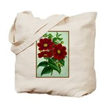 Vintage Flower Print Tote Bag