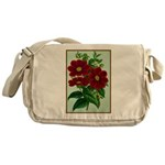 Vintage Flower Print Messenger Bag