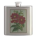 Vintage Flower Print Flask
