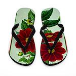 Vintage Flower Print Flip Flops