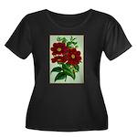 Vintage Flower Print Plus Size T-Shirt