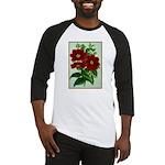 Vintage Flower Print Baseball Jersey