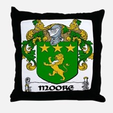 Moore Coat of Arms Throw Pillow