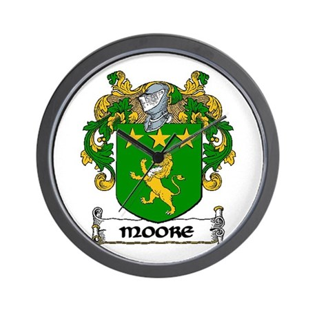 Moore Coat of Arms Wall Clock