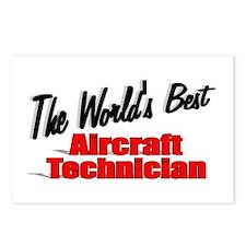 """""""The World's Best Aircraft Technician"""" Postcards ("""