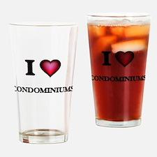 I love Condominiums Drinking Glass
