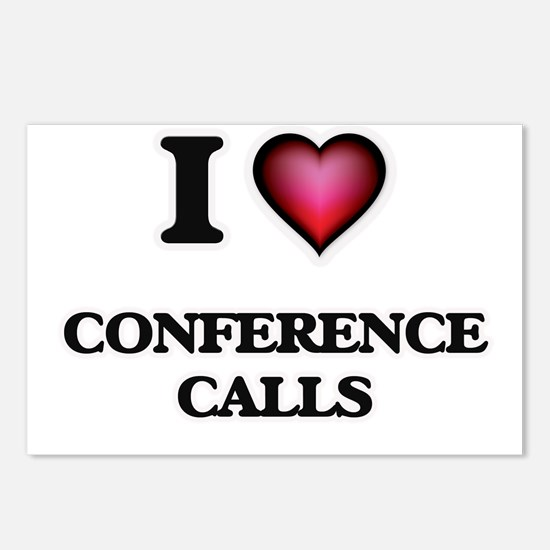 I love Conference Calls Postcards (Package of 8)
