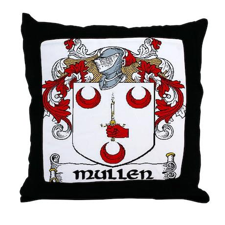 Mullen Coat of Arms Throw Pillow