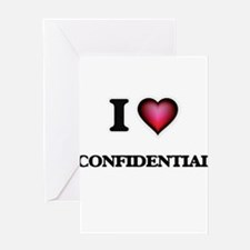 I love Confidential Greeting Cards