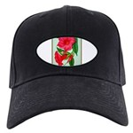 Red Morning Glorys Baseball Hat