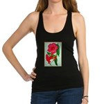 Red Morning Glorys Racerback Tank Top