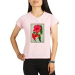 Red Morning Glorys Performance Dry T-Shirt