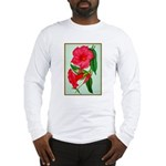 Red Morning Glorys Long Sleeve T-Shirt