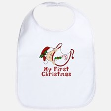 First Christmas Baby Bib Bib