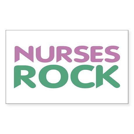 Nurses ROCK Rectangle Sticker