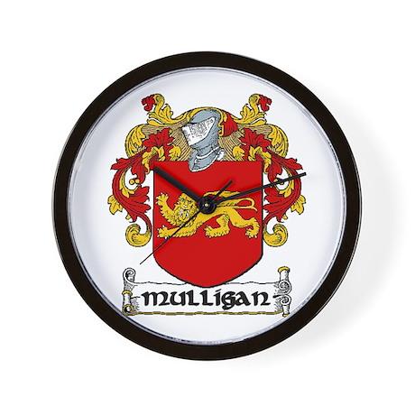 Mulligan Coat of Arms Wall Clock