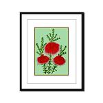 String Bell Vintage Flower Print Framed Panel Prin