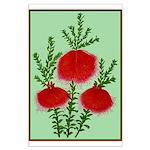 String Bell Vintage Flower Print Poster