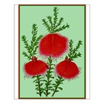 String Bell Vintage Flower Print Small Poster