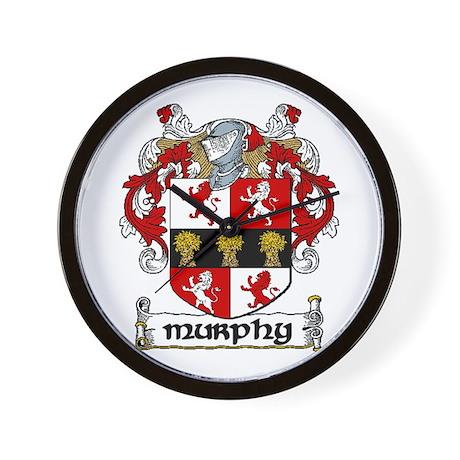 Murphy Coat of Arms Wall Clock