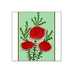 String Bell Vintage Flower Print Sticker